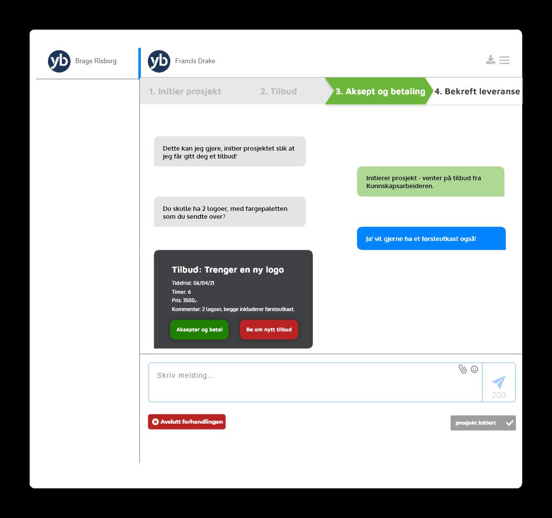 chat - oppdragsgiver